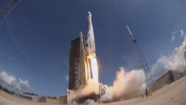 Grüner Raketenstart: 'Atlas V' bringt Treibhaus zur ISS