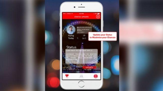 Tinder fürs Flugzeug: App soll Passagiere verkuppeln