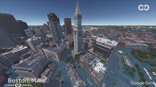 Klimawandel: Simulation zeigt Städte unter Wasser