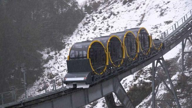 Rekord in der Schweiz: Steilste Seilbahn der Welt
